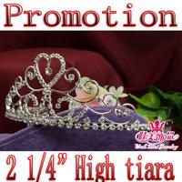 Promotions rhinestone bridal wedding heart tiara crown headwear Pr001
