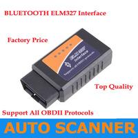 2013 Best Wholesale Price BT ELM327 Bluetooth OBDII V1.5 CAN-BUS Diagnostic Interface Scanner,Bluetooth ELM 327 OBD 2 Scan Tool