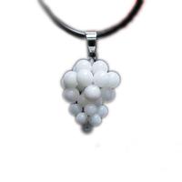 Tridacna grape pendant tridacna pendant white tridacna pendant crystal pendant