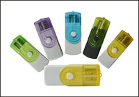 new swivel design all in 1 multi function card reader,memory card reader for TF,for SD ,for MS,for M2 500pcs/lot