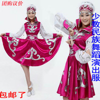Chinese minority clothing apparel Mongolia clothes dance costume dress stage clothes