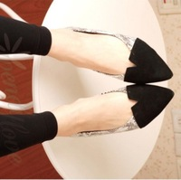 Fashion fashion serpentine pattern small pointed toe flats all-match elegant flat comfortable single shoes female shoes