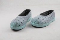 Mint green women's shoes fresh comfortable shoes vintage round toe flat