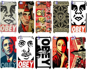 New skin design OBEY case hard back cover for ipod touch 4 4G 4th 10PCS/lot+free shipping