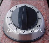 2013 New Fashion 1Pcs Silver Kitchen Mechanical Timer / Countdown Timer / Reminder / Stainless Steel Round Table Free Shipping