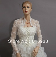2013 Free Shipping High Quality Long Sleeve Lace Jacket Wedding Dress WJ-008