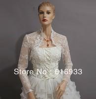 2013 Free Shipping High Quality Long Sleeve Lace Jacket Wedding Dress WJ-008
