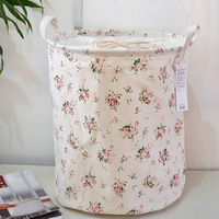 Zakka fluid storage basket fabric storage bucket cylinder beam storage box storage bag laundry hamper for 1 pcs