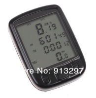 14 Functions Waterproof LCD Display Cycling Bike Bicycle Computer Odometer Speedometer H8245 Freeshipping Dropshipping Wholesale