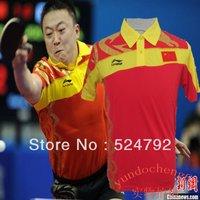 free shipping !2013 New Li Ning Mens Badminton / Table Tennis clothes Polo Shirts