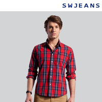Swjeans men's clothing 2013 100% cotton turn-down collar 171260502101 long-sleeve shirt