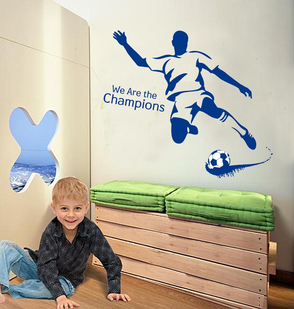 50 70 cm gr tis frete parede sports adesivo futebol for Decalque mural