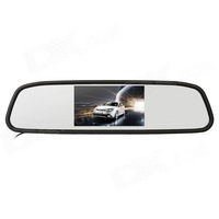 "CCD 4.3"" Wireless Car Rearview Mirror LCD Monitor Kit - Black Rear view system"
