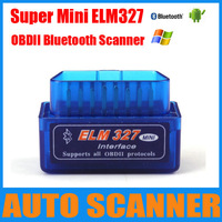 2013 Latest Version Super Mini ELM327 Bluetooth OBD2 Scanner ELM 327 Bluetooth For Multi-brands CAN-BUS Supports All OBD2 Model