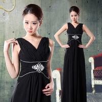 2012 wedding formal dress slim evening dress evening dress evening dress black