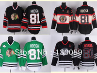 Free Shpping Wholesale Cheap NHL Hockey Jerseys Men's Chicago Blackhawks #81 Hossa Jersey, Embroidery Logos,Mix Order