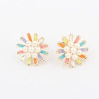 Min Order $10(Can mix order) Korean Socialite Boutique Pearl Stud Earrings Vintage Fashion Jewelry Free Shipping E1059