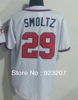 Wholesaler 2013 Cheap Men Atlanta #29 John Smoltz White Retro Baseball Fashion Sports Jersey T Shirts Drop Shipping Embroidery