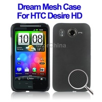Black plastic phone case for HTC desire hd g10