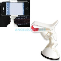 Car Windshield Mount Holder Bracket for iPhone GPS HTC Smartphone White  A#S0