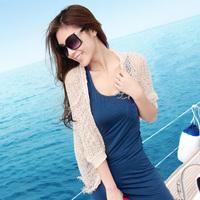 Sun protection clothing female sunscreen shirt cardigan ultra-thin cutout sweater shirt cape outerwear air conditioning shirt