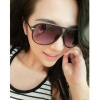 free shipping male big black metal sunglasses box vintage fashion  2013 female sunglasses
