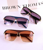 free shipping 2013 lovers fashion star style all-match metal fashion vintage big box personalized sunglasses wholesale