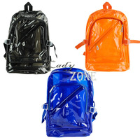 New Women Fashion Style Plastic Candy Color Transparent Bag Backpack Bag 3Colors 14339