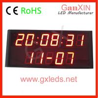 2.3 inch 2 line led clock led wall clock led digital clock