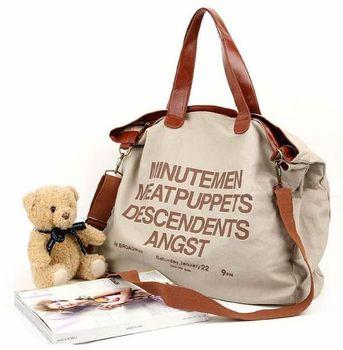 Hot sell 2015 letter Casual Canvas Bag Women's Messenger Bags Handbag Free shippment factory price