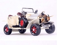Free Shipping Handmade Vintage Classic Metal Car Model Antique Car Model Birthday Gift Home Decoration