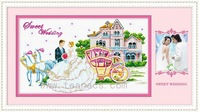 Earthsound cross stitch 100% print fabric 36751 sweet wedding