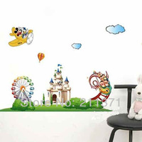 [DongFan]  Mickey & Minnie Mouse Wall decals Kids Nursery Vinyl wall decor stickers free shipping