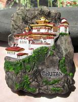 Free Shipping Tourism Souvenir Gift Resin Fridge Magnet Kingdom of Bhutan City Fridge Magnetic
