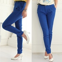 2013 New Women's Slim Casual Pants Fashion Harem Pants Feet Pencil Pants  White Black Blue Pink Khaki S-XL