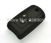 Black Silicone Key Case Cover Holder Protecting Bag Fit For Honda Acura Accord Odyssey CR-V 3 Buttons Flip Folding Key