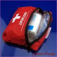 5 PCS/Lot RED Emergency First Aid Kit Bag Pack Travel Sport Survival First Aid Kit 190016