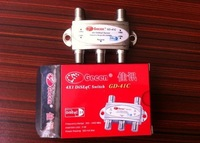 Freeshipping NEW ARRIVED GD-41C 4 x 1 Satellite DiSEqC Switch for FTA DVB-S2 receivers 10pcs/lot