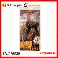 "Free Shipping! Retail 1pcs NECA God of War 2 II Kratos in Ares Armor W Blades 7"" PVC Action Figure Toy Doll Chritmas Gift"