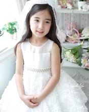 Child formal dress female child dress beautiful camblet wedding dress princess flower girl dress skirt