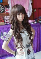 Yiwu factory fluffy pear head with long hair Qi Liu handsome big wave simulation wig