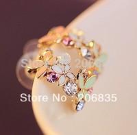 Korean Super Fashion Butterflies love Flowers Earrings