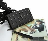 wholesale 2013 new style long women purse , pu wallet for lady   fashion  women's purse  free shipping