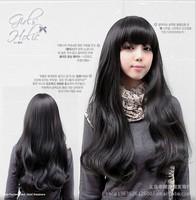 Yiwu fashion wig long curly hair Qi Liu pear head wig big wave of high temperature wire emulation Wholesale