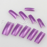 High Quality New 500pcs Purple Color French Acrylic False Nail Art Tips Nail Art