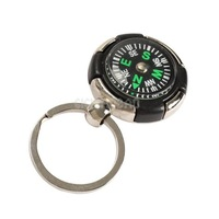 Survival Ruder Compass Pendant Keychain Outdoor Camping Hiking Key Ring #gib