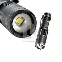 Hot Sale 1600Lm ZOOMABLE CREE XML XM-L T6 LED Flashlight Torch Lamp Zoom IN/OUT with  Dimmer Head camp Z7 014632 Free Shipping