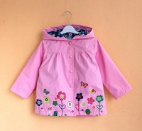 2013 Autumn trench coat for girl girls windbreaker girls baby clothing Free Shipping