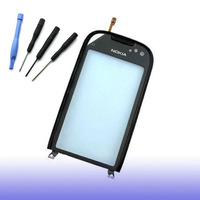 new Touch Screen Digitizer Glass With black frame for Nokia C7 C7-00 + tools