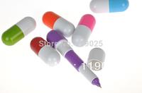 2014 Office supplies Retractable pen/Ball point cartoon Telescopic face Capsule pills Pen wholesale FreeShipping